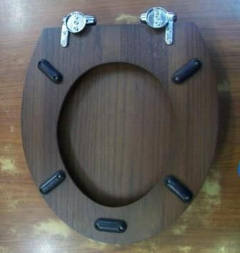 solid wood soft close toilet seat.  Sanitan Dark Oak Solid Wood Soft Close Toilet Seat 04000307